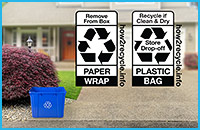 How2Recycle - curbside recyclable, store drop-off recycling