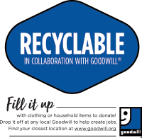 Recyclable in Collaboration with Goodwill®