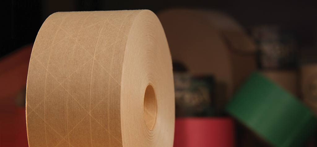 gummed paper tape Water activated gummed paper tape is a modern, efficient sealing method, environmentally friendly and tamper evident the right technological step back to the future.