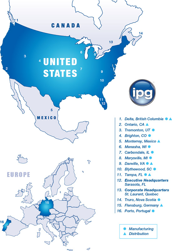IPG Locations Map